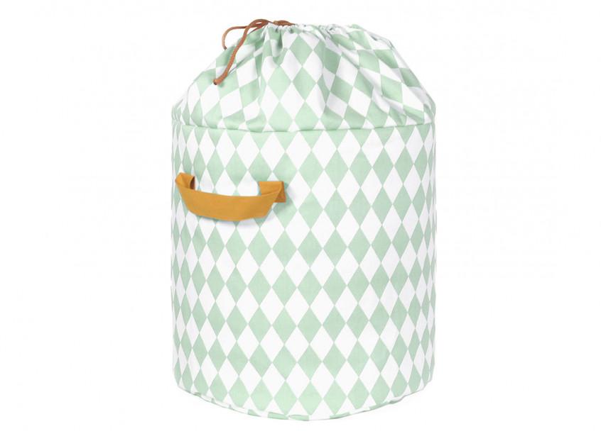 Baobab toy bag green diamonds - 2 sizes