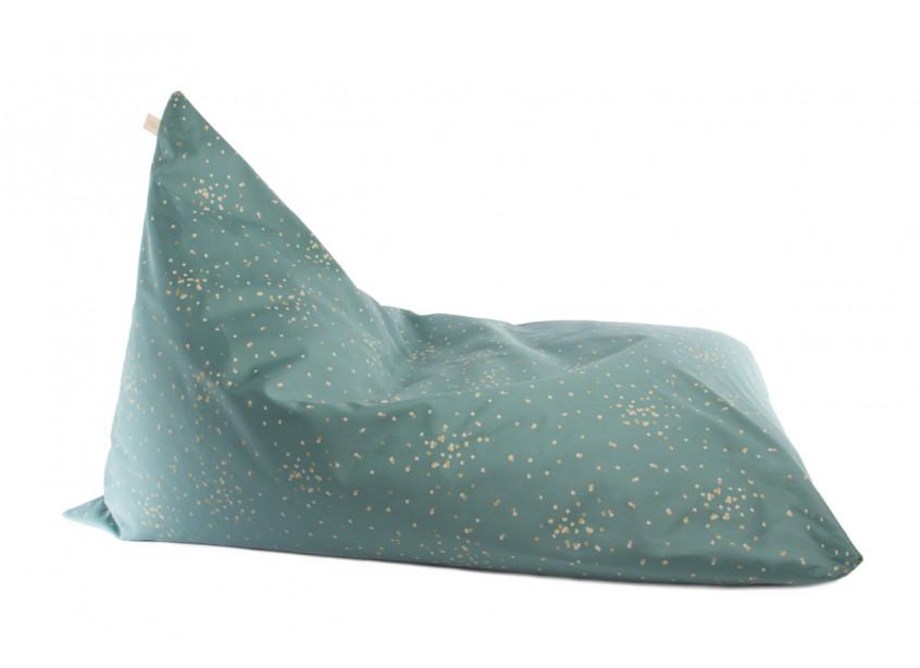 Essaouira beanbag gold confetti/ magic green