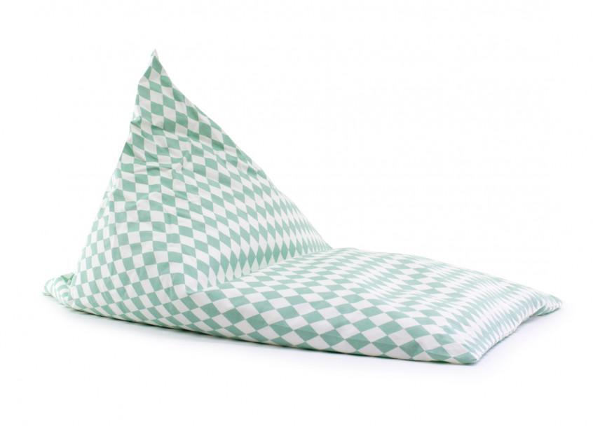 Essaouira kid beanbag • green diamonds