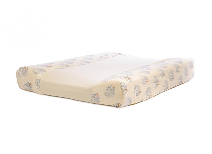 Waterproof changing mat Calma & cover blue gatsby cream