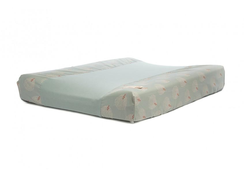 Waterproof changing mat Calma & cover white gatsby antique green