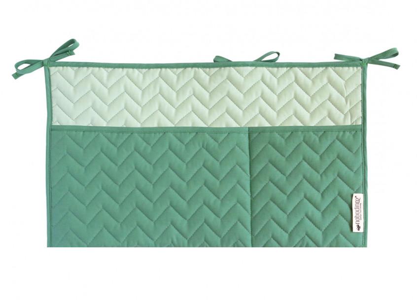 Sevilla crib organizer 26x48 siesta green