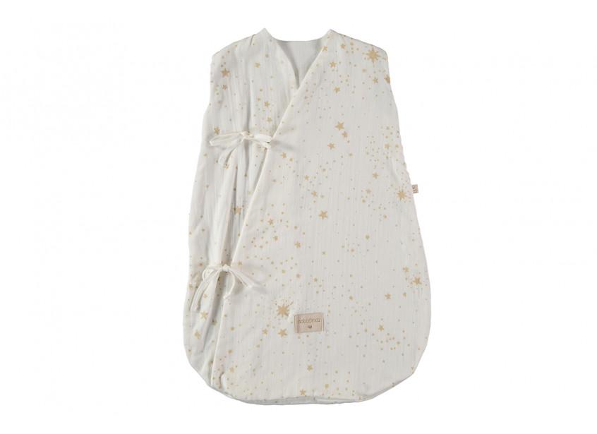 Dreamy summer sleeping bag 0-6 M gold stella/ white