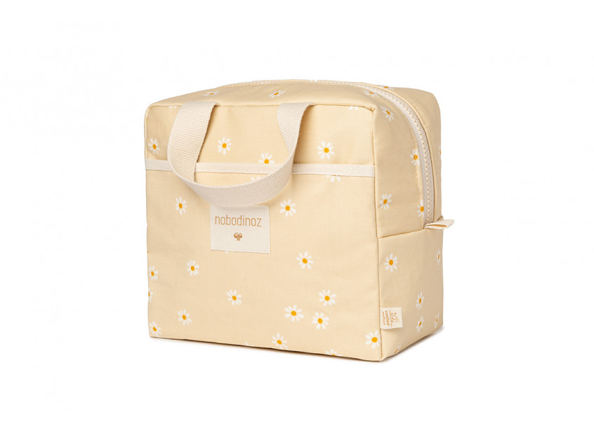 Sunshine insulated lunch bag • daisies
