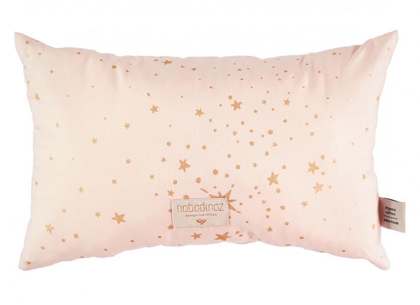 Laurel cushion • gold stella dream pink
