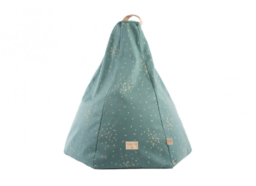 Marrakech beanbag gold confetti/ magic green