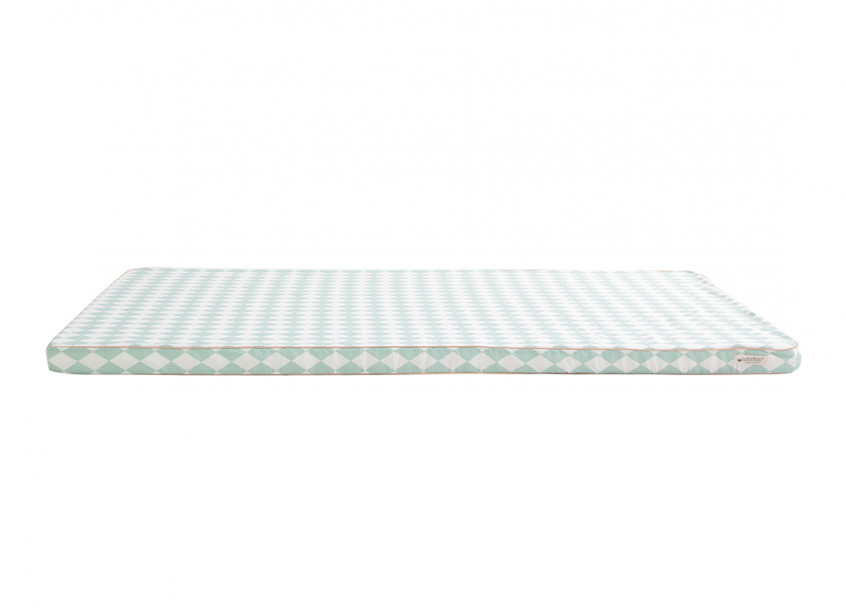 Saint Tropez play mattress • green diamonds