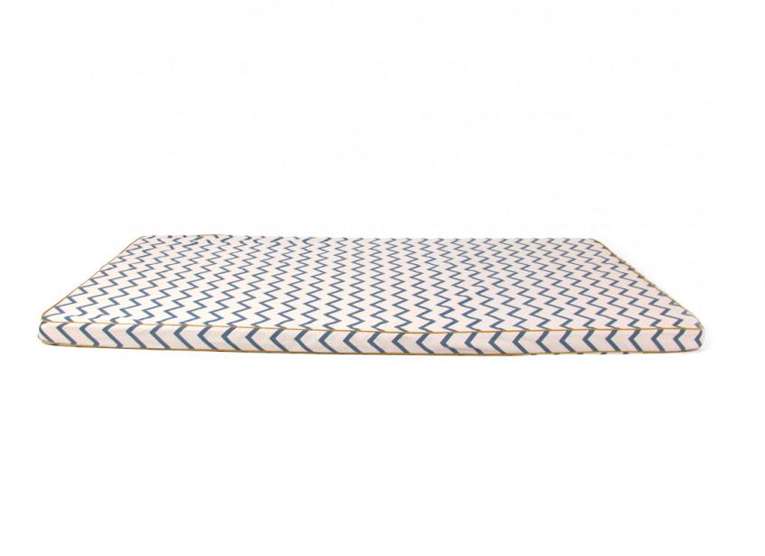 Saint Tropez floor mattress 120X60X4 zig zag blue