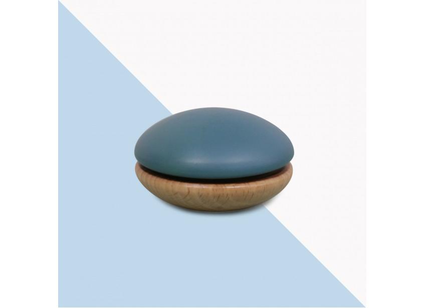 Wooden Yoyo 6x6x4cm blue