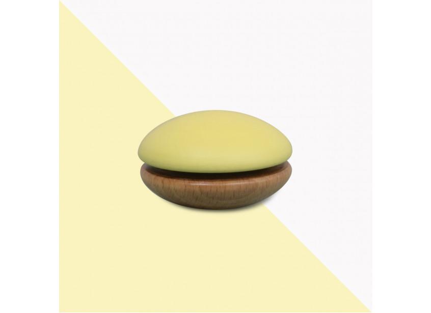 Wooden Yoyo 6x6x4cm yellow
