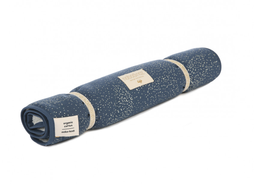 Nomad changing pad • gold bubble night blue