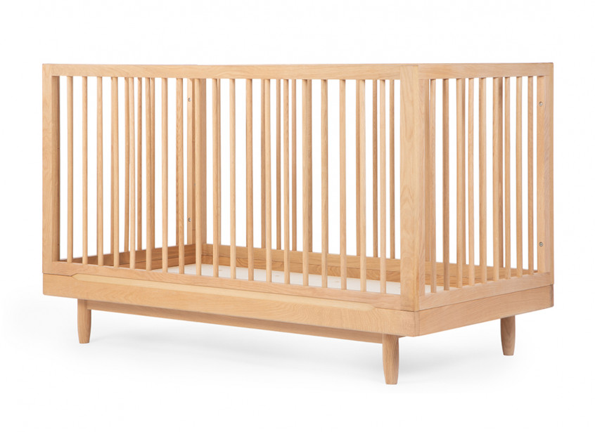 Oak wood evolving crib • Pure
