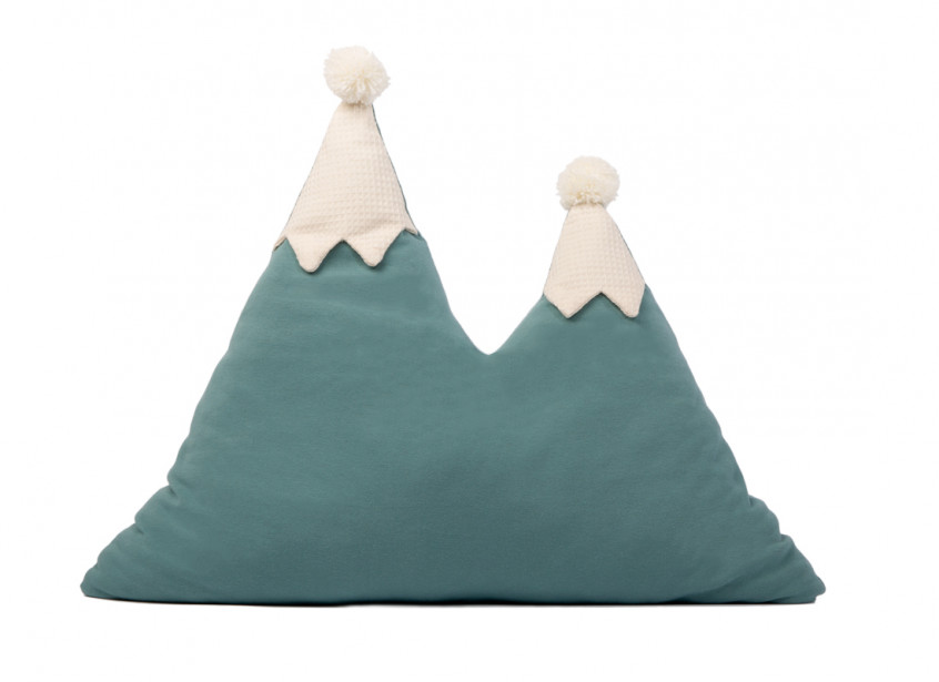 Snowy mountain cushion 42x50 magic green