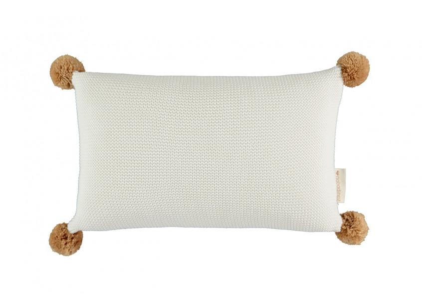 So Natural knitted cushion • Milk
