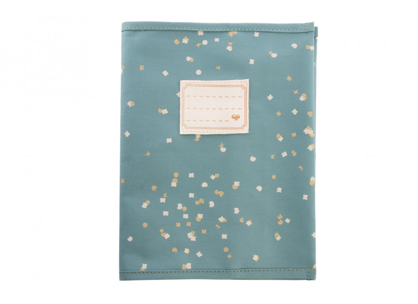 Too Cool book sleeve A5 gold confetti/ magic green