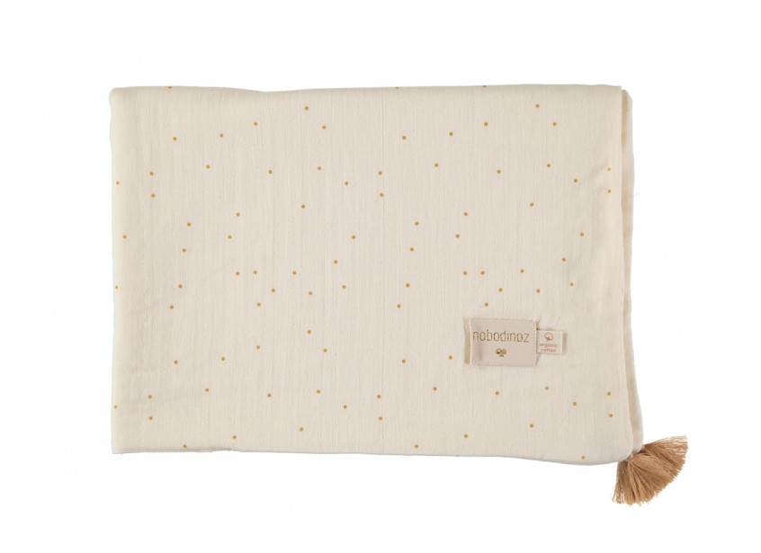 Treasure summer blanket 70x100 honey sweet dots/ natural