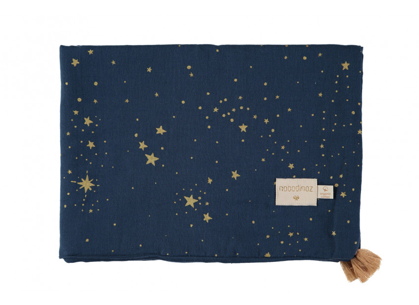 Treasure summer blanket 70x100 gold stella/ night blue