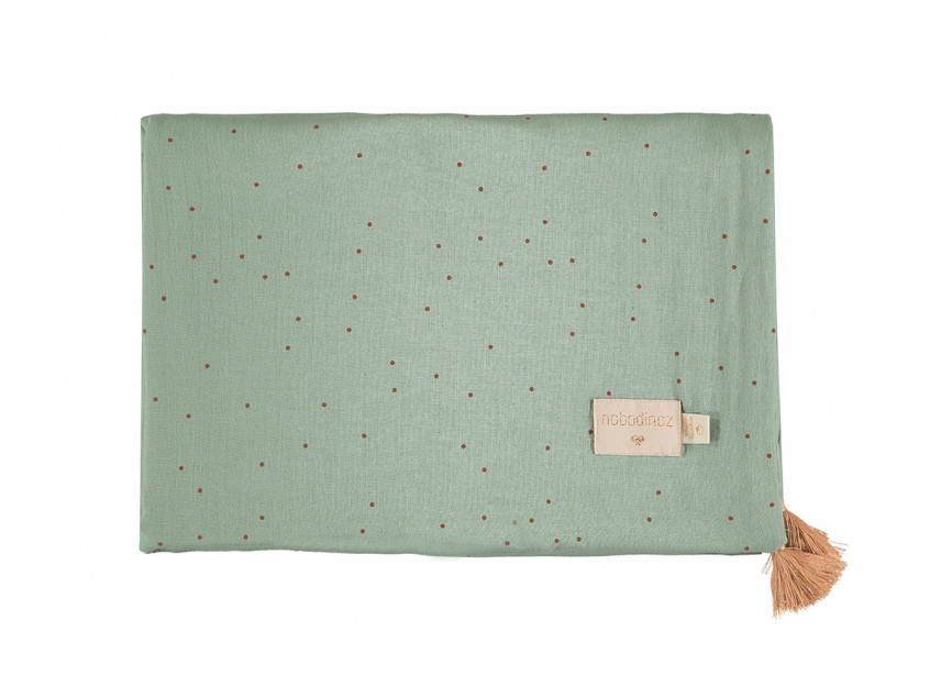 Treasure summer blanket toffee sweet dots eden green