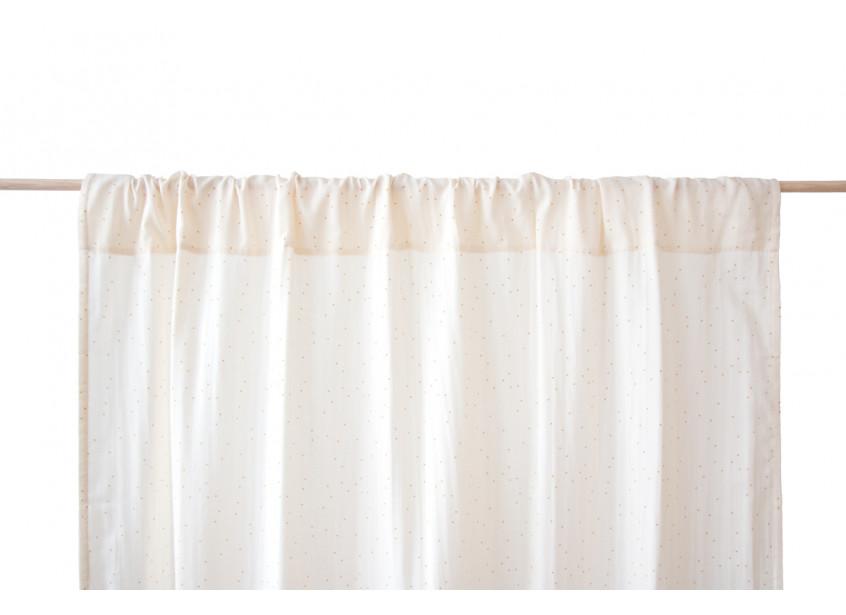 Utopia curtain honey sweet dots/ natural
