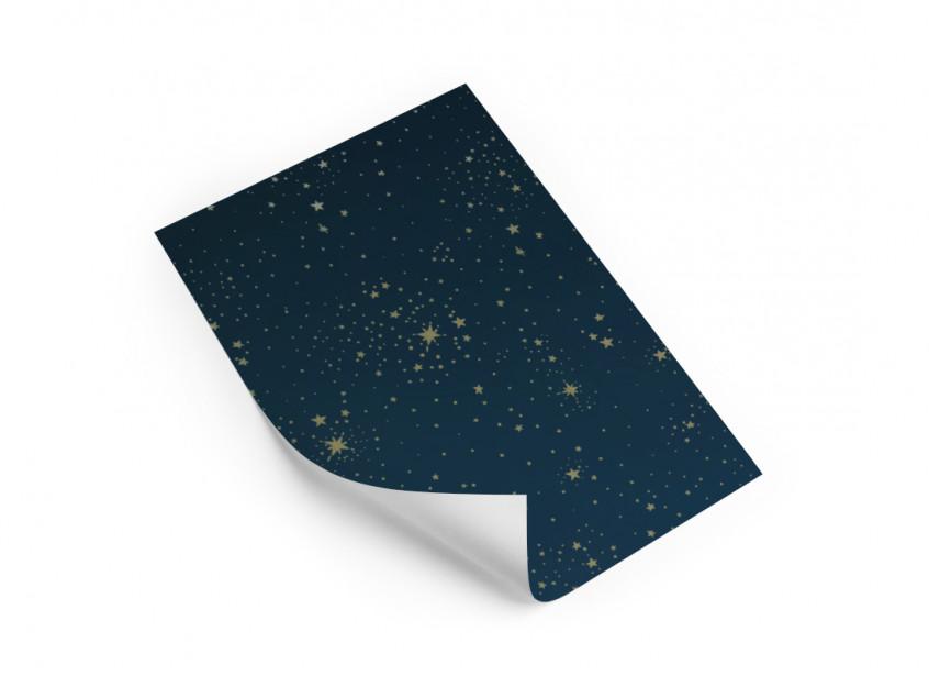 Wallpaper sample A4 • gold stella night blue