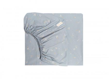 Tibet fitted sheet • willow soft blue