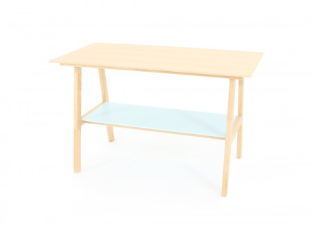 Solid Beech wood Table - tropical green