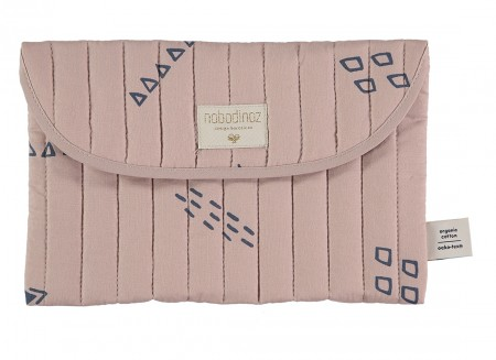 Bagatelle pouch 19x27 blue secrets/ misty pink