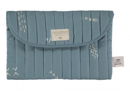 Bagatelle pouch 19x27 gold secrets/ magic green