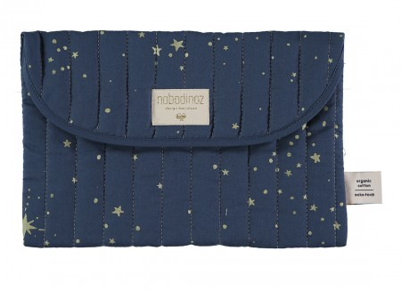 Bagatelle pouch • gold stella night blue