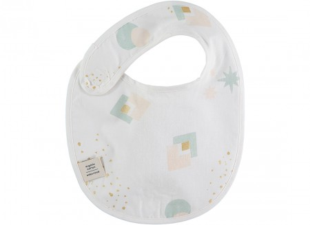 Candy bib • aqua eclipse white