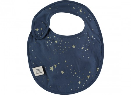 Candy bib • gold stella night blue