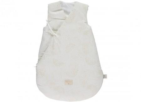 Cloud winter sleeping bag • gold bubble white