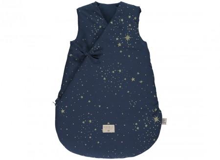 Cloud winter sleeping bag • gold stella night blue