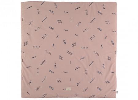 Colorado play mat 100x100 blue secrets/ misty pink