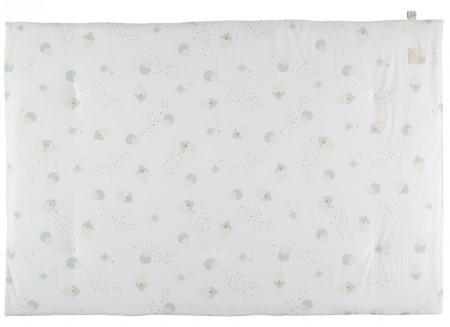 Eden futon 148x100x6 aqua eclipse/ white