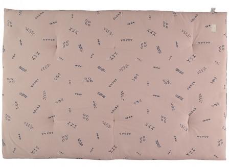 Eden futon 148x100x6 blue secrets/ misty pink