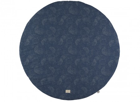 Full Moon large round playmat 145x145 gold bubble/ night blue