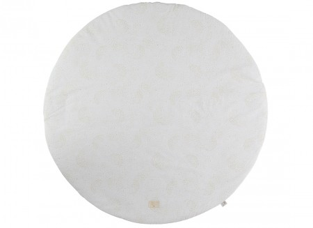 Full Moon small round playmat 105x105 gold bubble/ white