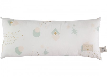 Hardy cushion • aqua eclipse white