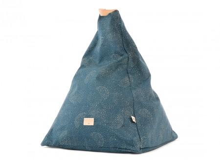 Keops beanbag 65x50x50 gold bubble/ night blue