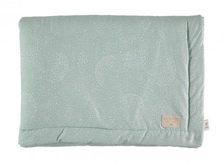 Laponia blanket • white bubble aqua