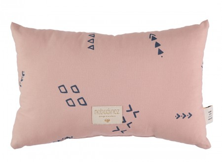 Laurel cushion 22x35 blue secrets/ misty pink