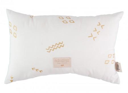 Laurel cushion 22x35 gold secrets/ white