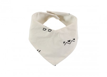 Lucky bandana bib 16x43 black secrets/ natural