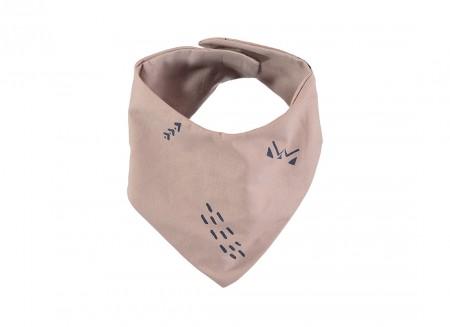 Lucky bandana bib 16x43 blue secrets/ misty pink