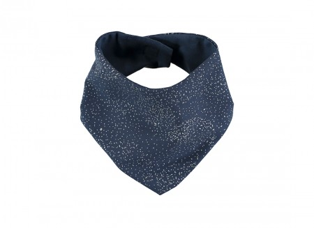 Lucky bandana bib 16x43 gold bubble/ night blue