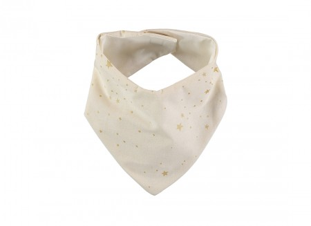Lucky bandana bib 16x43 gold stella/ natural