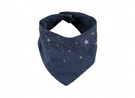 Lucky bandana bib 16x43 gold stella/ night blue