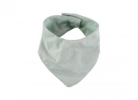 Lucky bandana bib 16x43 white bubble/ aqua