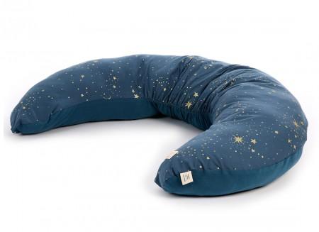 Luna maternity pillow • gold stella night blue